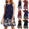 NEW Women Boho Vintage Sleeveless Summer Holiday Beach Party Short Mini Dress
