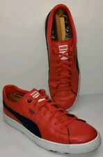 Puma Basket Men's Athletic Shoes Size 13M 47EU Red Leather Casual Lifestyle