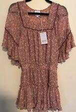 Misa Los Angeles Larisa Mini Dress - Chiffon - Blush Pink Womens - Size S