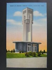 Sioux City Iowa Singing Tower Of Legends Memorial Park Cemetery Postcard 1940s