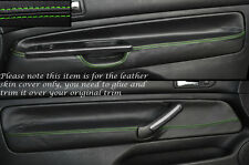 Verde Stitch 2x Frontal Puerta Tarjeta Piel Cubre encaja Vw Golf Mk4 Iv Jetta 98-05 3DR