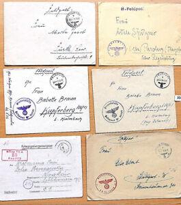 3041 L 21 **** 6 Stück Feldpostbriefe   , 2. Weltkrieg