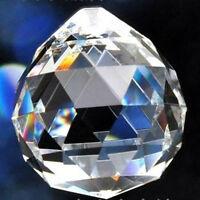 1PCS Clear Glass Crystal Chandelier Lamp Part Ball Prism Suncatcher Pendant 40mm