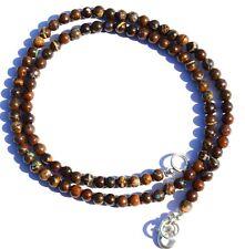 "Natural Rare Gem Boulder Australian Opal 4MM Size Round Beads Necklace 16"" 59Ct."
