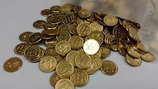 5 LB .800 Brass Gaming Tokens Bulk 800