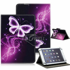 """For 9.7"""" -10.1"""" Tablets Purple Butterfly Leather Case Cover Wireless Keyboard"""