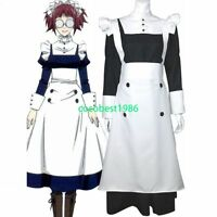 Black Butler Mey Rin Halloween Cosplay Costume any size Body Skirt  Apron