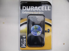 Apple iphone 4 4s Heavy Duty Silicone Gel Skin Case Cover Black By Duracell NEW
