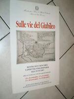 MANIFESTO CON PIANTA RAVENNA SULLE VIE DEL GIUBILEO ARCHIVIO DI STATO RAVENNA