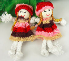 20Pcs Cute Pattern Dress Girl Small Doll For Appliques craft/Sewing/Decorations