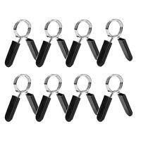 1X(8 Pack Hantel Feder Kragen, ÜBung Lang Hantel Clip Clamps für Weight Bar E6Z8