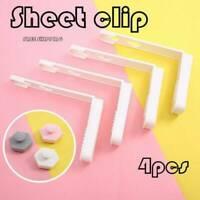 4Pcs/Set Bed Sheet Mattress Holder Fastener Grippers Clips Suspender Straps Tool