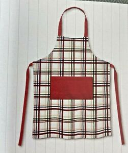 Plaid Apron 100% Cotton Threshold New