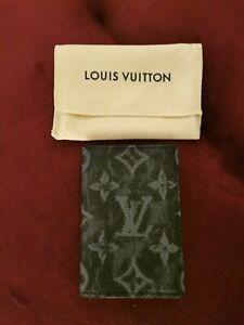 LOUIS VUITTON Monogram pastel noir canvas pocket organizer NEW