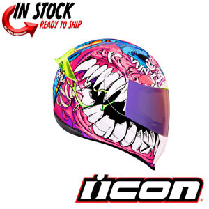 2021 ICON AIRFRAME PRO BEASTIE BUNNY PINK MOTORCYCLE HELMET - PICK SIZE