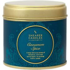 Shearer Candles Home Cinnamon Spice, Large Scented Tin Candle, 40 Hour Burn Time