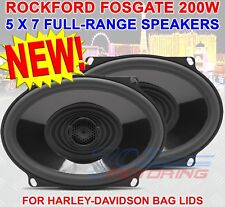 "ROCKFORD FOSGATE TMS57 5""X7"" HARLEY DAVIDSON MOTORCYCLE 2-WAY TWEETERS SPEAKERS"