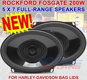 """ROCKFORD FOSGATE TMS57 5""""X7"""" HARLEY DAVIDSON MOTORCYCLE 2-WAY TWEETERS SPEAKERS"""