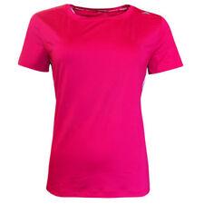 Camisetas de mujer de manga corta color principal rosa de poliéster