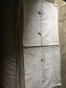 Two French Style Bedroom Cushion Covers In Beige