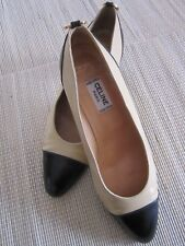 Exclusive, luxuriöse Pumps von Céline Paris Original Gr. 34,5 beige/schwarz