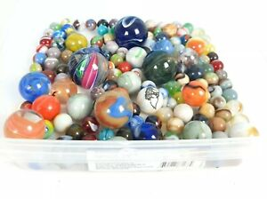 Vintage Colorful Marbles Lot # 2 Oxblood Swirls Shooters German modern assorted