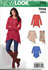 NEW LOOK SEWING PATTERN 6415 MISSES SZ 6-24 EASY TOPS & TUNICS IN PLUS SIZES