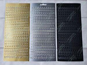 JEJE peel off sticker upper case capital letters gold / silver / black FREE P&P
