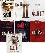SAW - LA COLLEZIONE COMPLETA (7 DVD) TUTTI I FILM IN DVD SINGOLI