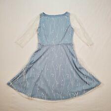 Unbranded Women's XXL Swing Dress Baby Blue Lace Sleeves