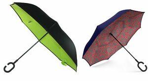 ShedRain Reverse Closing UnbelievaBrella Stick Umbrella, Various Colors