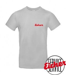 """T-Shirt """"Ich fahre Eicher"""" hellgrau"""
