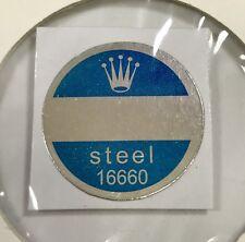 ROLEX 16660 Steel Caseback Blue Sticker Certificate 1980's Sea-Dweller Comex NOS