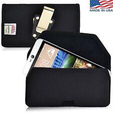 Turtleback HTC Desire 826 Black Nylon Phone Holster Pouch Case Metal Belt Clip