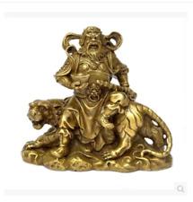 Collection mythologie chinoise équitation tigre roi bronze statue 8x3x7 CM