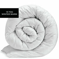 15 Tog Duvet SNUGGLE Super Winter Warm Quilt Duvet Single/Double/King Size