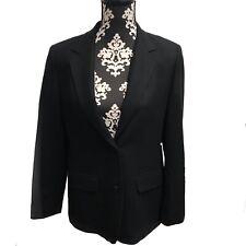 Vintage Black Pendleton Woman's Blazer Single Breasted Medium Pure Verging Wool