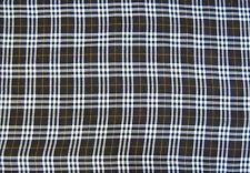 Tartan Brown Berwickshire Check Dress Fabric Polyviscose 150cm Wide  FREE P+P