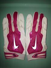 NWT Nike Promo Vapor Jet 3.0 BCA Pink/White Football Gloves Size L PGF355
