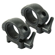 """2 PCS Quick Release Steel Scope Rings Low Picatinny Mount with 30mm / 1"""" Reducer"""