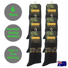 Premium Quality Black Bamboo Business Socks 6 - 11 x 6 Pairs