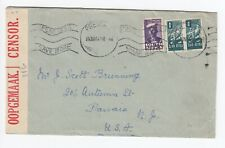 WW2 South Africa to USA 3d Pretoria Spendless Save More Cover UC8 Opened Censor