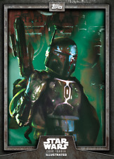 Topps Star Wars Card Illustrated Series 6 W2 #1 Gray Boba Fett [DIGITAL] CTI