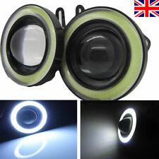 "2pcs 3"" Car COB LED Fog Light Angel Eye Halo Ring DRL Driving Bulbs Cool White"