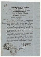 T87-BOLOGNA 1849-TRASPORTI MILITARI CITTADINO DI CASTEL SAN GIORGIO