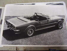 1967 CHEVROLET CAMARO CONVERTIBLE CUSTOM  FACTORY ? 12 X 18 LARGE PICTURE  PHOTO