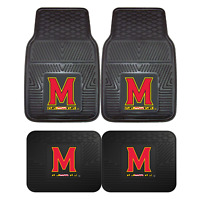 University of Maryland 2pc & 4pc Mat Sets-Heavy Duty-Cars,Trucks,SUVs