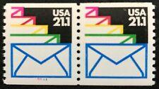 1985 Scott #2150, 21.1¢, SEALED ENVELOPES - Pair of Coils - Mint NH -
