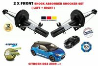 FOR CITROEN DS3 2009 > NEW 2 X FRONT LEFT RIGHT SHOCK ABSORBER SHOCKER SET