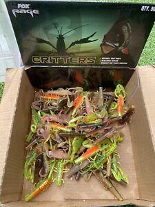 10pcs Mixed x Fox Rage CRITTERS Soft Lure Bait Creature Predator Fishing Perch